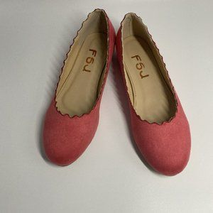 FSJ Women Cute Dress Shoes Scalloping Round Toe